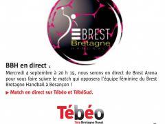 Le Stade Brestois vous invite à suivre les filles du @BBH_Officiel qui affrontent Besançon (@ESBF_Handball) ce soir à 20h15 en clair et en direct sur...