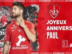 🎂 C'est aujourd'hui l'anniversaire de Paul Lasne ! Le milieu de terrain brestois fête aujourd'hui ses 31 ans ! 🥳  Joyeux anniversaire Paul ! ✌...